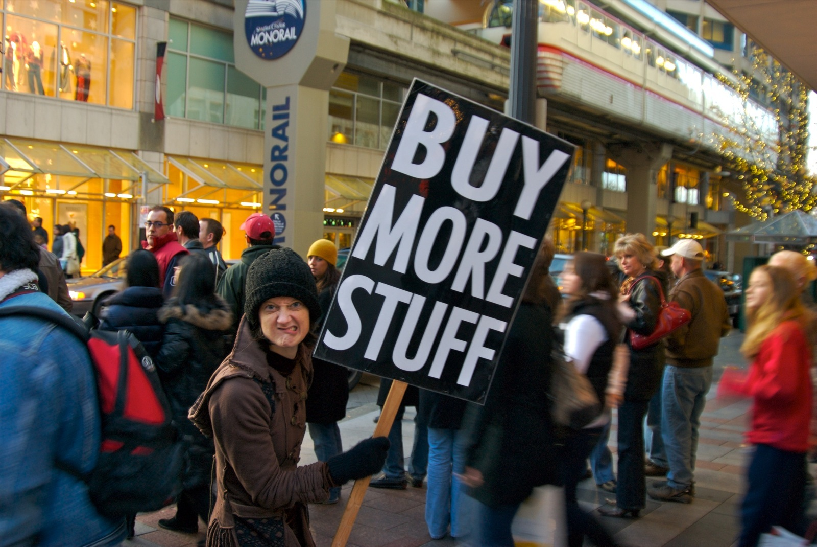 Buy More Stuff on Friday, November 23rd, the day after Thanksgiving...also known as Black Friday